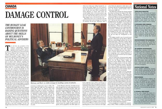 Article Preview: DAMAGE CONTROL, June 1989 | Maclean's