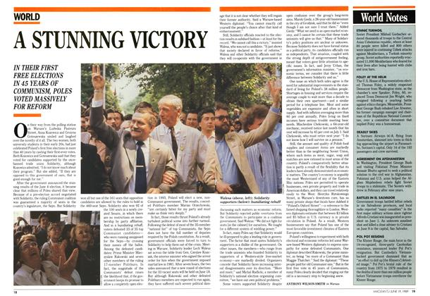 Article Preview: A STUNNING VICTORY, June 1989 | Maclean's