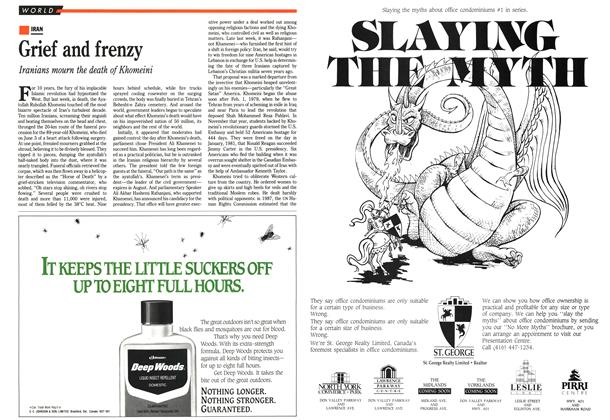 Article Preview: Grief and frenzy, June 1989 | Maclean's