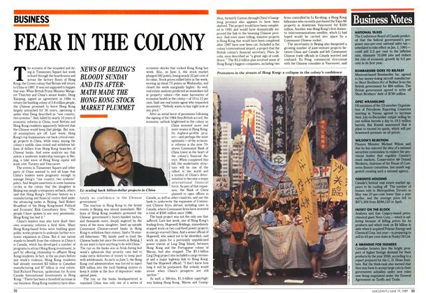 Article Preview: FEAR IN THE COLONY, June 1989 | Maclean's