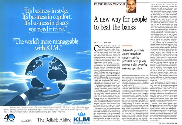 Article Preview: A new way for people to beat the banks, June 1989 | Maclean's