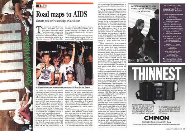 Article Preview: Road maps to AIDS, June 1989 | Maclean's
