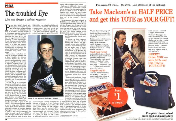 Article Preview: The troubled Eye, June 1989 | Maclean's