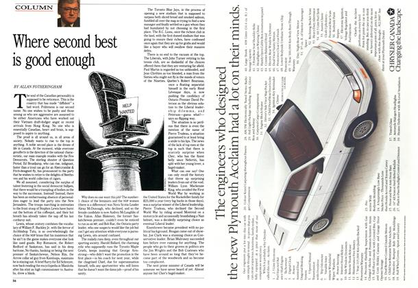Article Preview: Where second best is good enough, June 1989 | Maclean's