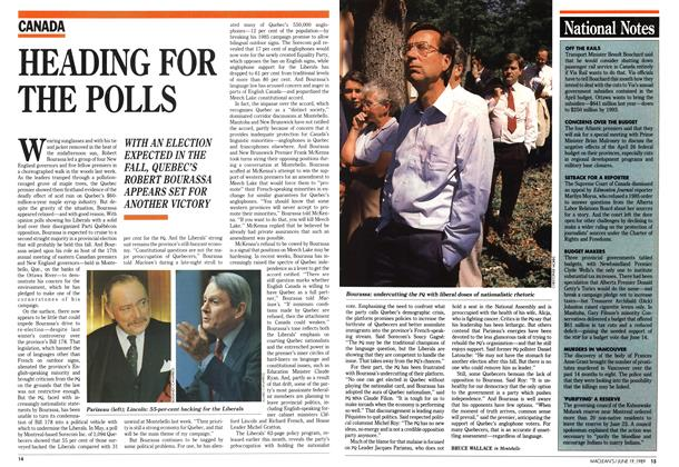 Article Preview: HEADING FOR THE POLLS, June 1989 | Maclean's