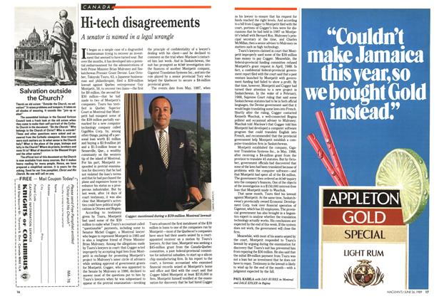 Article Preview: Hi-tech disagreements, June 1989 | Maclean's