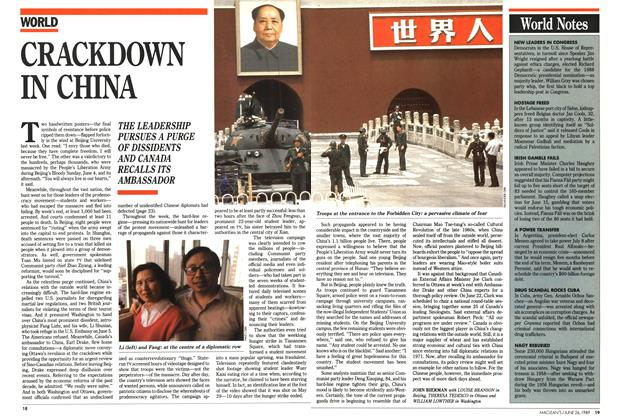 Article Preview: CRACKDOWN IN CHINA, June 1989 | Maclean's