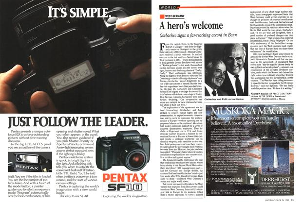 Article Preview: A hero's welcome, June 1989 | Maclean's