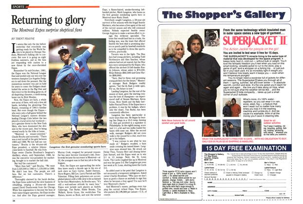 Article Preview: Returning to glory, June 1989 | Maclean's