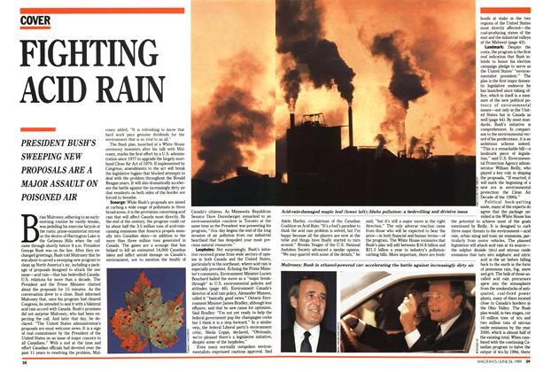 Article Preview: FIGHTING ACID RAIN, June 1989 | Maclean's