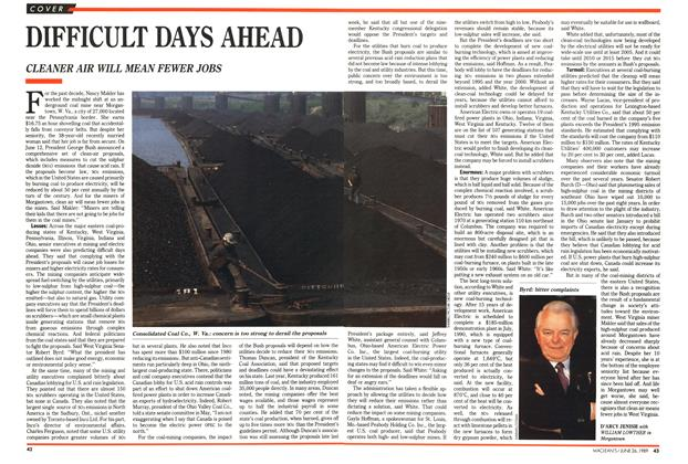 Article Preview: DIFFICULT DAYS AHEAD, June 1989 | Maclean's