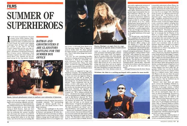 Article Preview: SUMMER OF SUPERHEROES, June 1989 | Maclean's