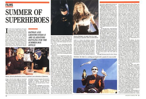 Article Preview: SUMMER OF SUPERHEROES, June 1989 | Maclean's