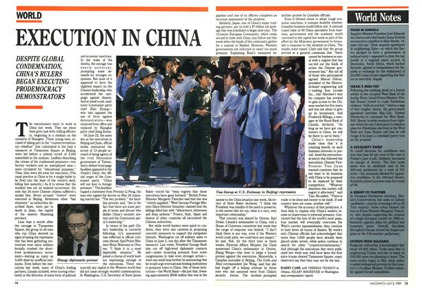 Article Preview: EXECUTION IN CHINA, July 1989 | Maclean's