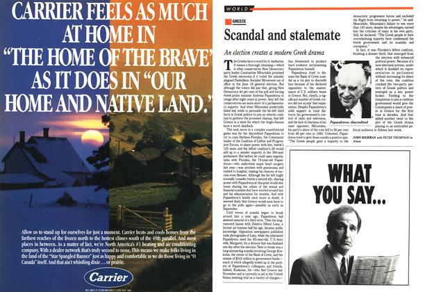 Article Preview: Scandal and stalemate, July 1989 | Maclean's