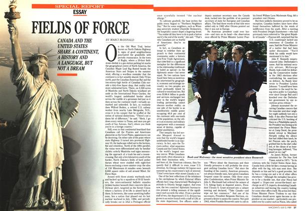 Article Preview: FIELDS OF FORCE, July 1989 | Maclean's