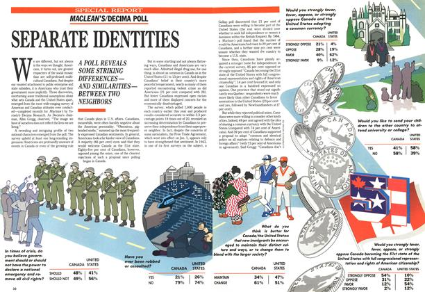 Article Preview: SEPARATE IDENTITIES, July 1989 | Maclean's