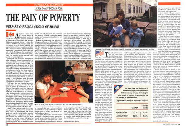 Article Preview: THE PAIN OF POVERTY, July 1989 | Maclean's