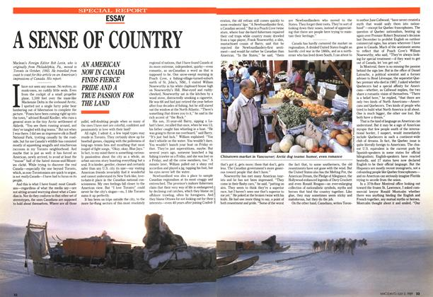 Article Preview: A SENSE OF COUNTRY, July 1989 | Maclean's