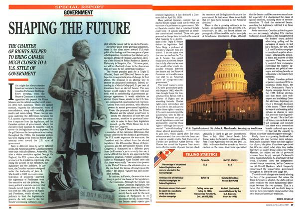 Article Preview: SHAPING THE FUTURE, July 1989 | Maclean's