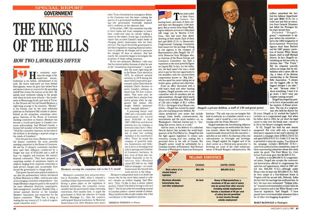 Article Preview: THE KINGS OF THE HILLS, July 1989 | Maclean's