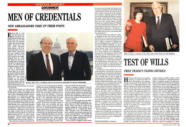 Article Preview: TEST OF WILLS, July 1989 | Maclean's