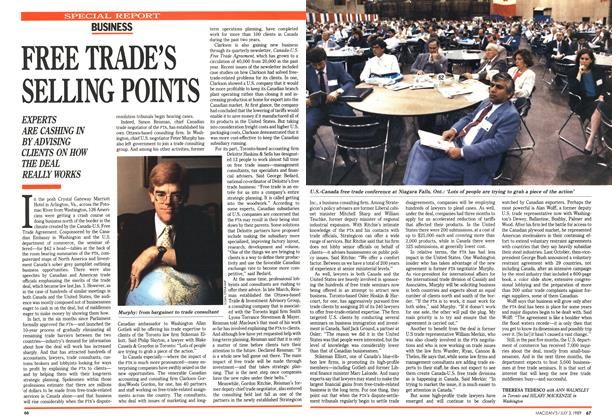 Article Preview: FREE TRADE'S SELLING POINTS, July 1989 | Maclean's