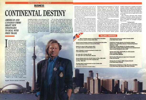 Article Preview: CONTINENTAL DESTINY, July 1989 | Maclean's