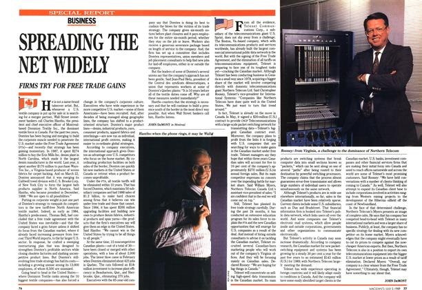 Article Preview: SPREADING THE NET WIDELY, July 1989 | Maclean's