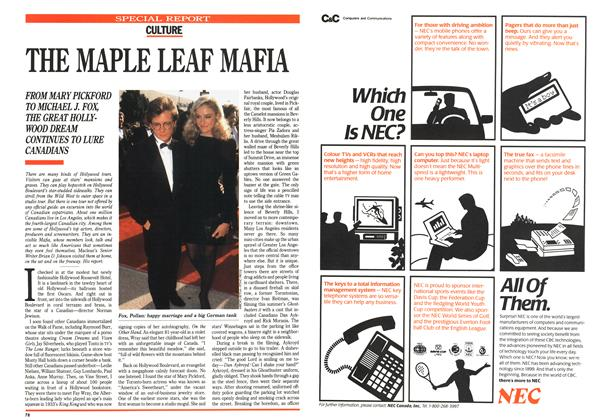 Article Preview: THE MAPLE LEAF MAFIA, July 1989 | Maclean's