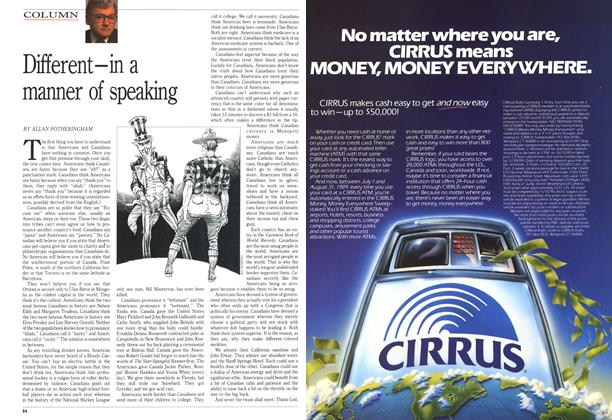 Article Preview: Different-in a manner of speaking, July 1989 | Maclean's