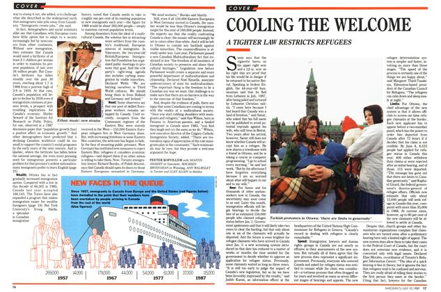Article Preview: COOLING THE WELCOME, July 1989 | Maclean's