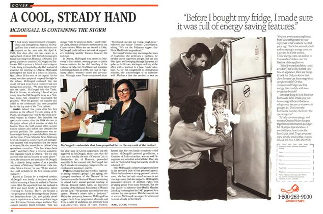 Article Preview: A COOL, STEADY HAND, July 1989 | Maclean's