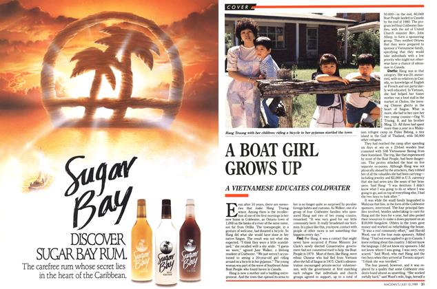 Article Preview: A BOAT GIRL GROWS UP, July 1989 | Maclean's