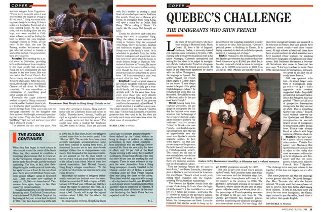 Article Preview: QUEBEC'S CHALLENGE, July 1989 | Maclean's