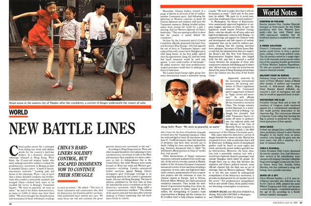 Article Preview: NEW BATTLE LINES, July 1989 | Maclean's