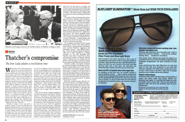 Article Preview: Thatcher's compromise, July 1989 | Maclean's