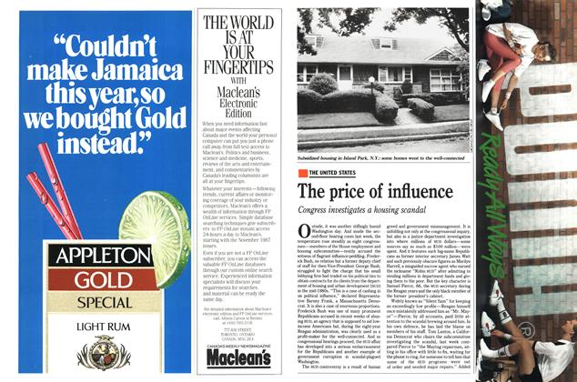 Article Preview: The price of influence, July 1989 | Maclean's