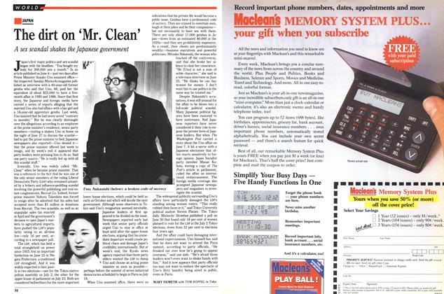 Article Preview: The dirt on 'Mr. Clean', July 1989 | Maclean's