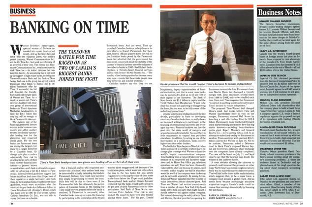 Article Preview: BANKING ON TIME, July 1989 | Maclean's