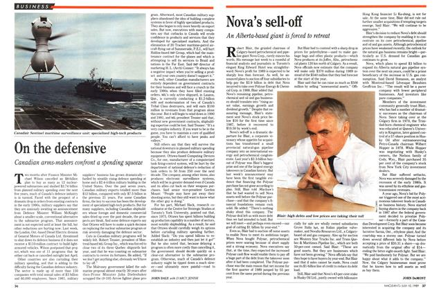 Article Preview: Nova's sell-off, July 1989 | Maclean's