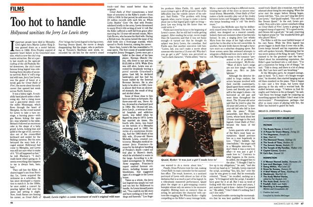 Article Preview: Too hot to handle, July 1989 | Maclean's