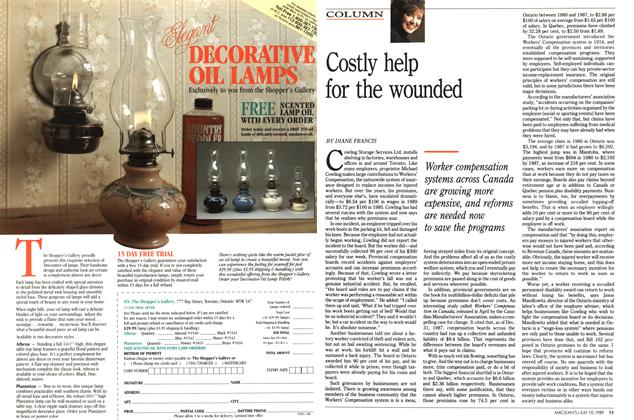 Article Preview: Costly help for the wounded, July 1989 | Maclean's