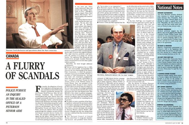 Article Preview: A FLURRY OF SCANDALS, July 1989 | Maclean's