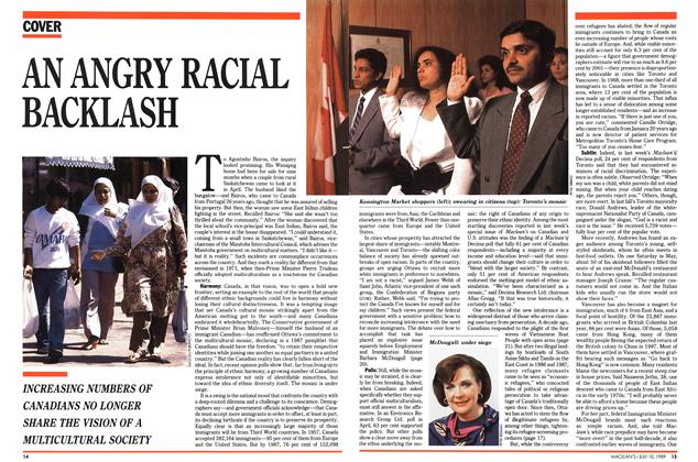 Article Preview: AN ANGRY RACIAL BACKLASH, July 1989 | Maclean's