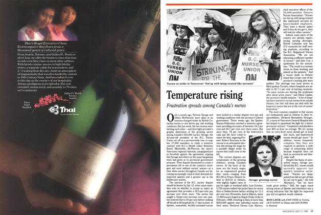 Article Preview: Temperature rising, July 1989 | Maclean's