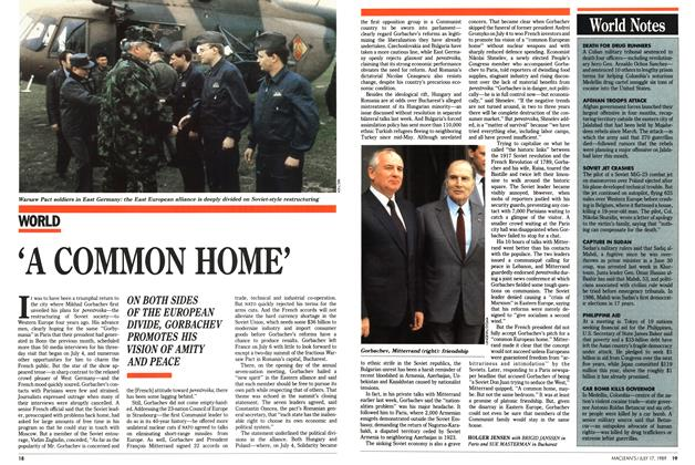 Article Preview: 'A COMMON HOME', July 1989 | Maclean's