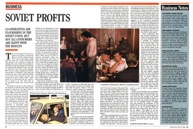 Article Preview: SOVIET PROFITS, July 1989 | Maclean's
