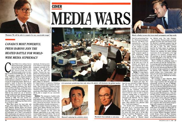 Article Preview: MEDIA WARS, July 1989 | Maclean's