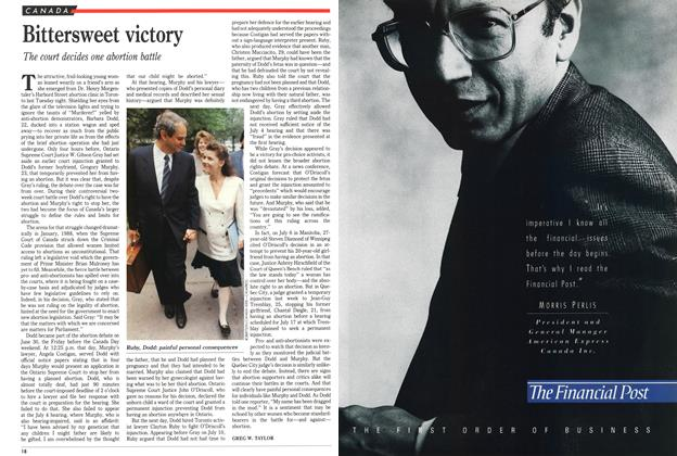 Article Preview: Bittersweet victory, July 1989 | Maclean's